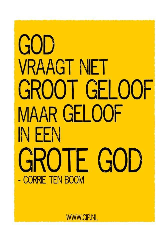 Quote van Corrie ten Boom: