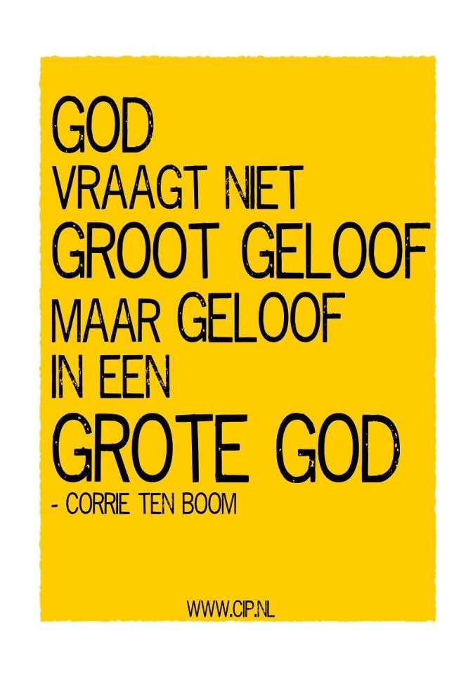 Quote van Corrie ten Boom: