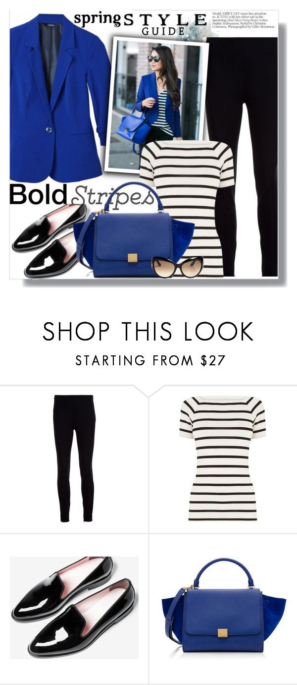 """Spring Style Trend: Cobalt Blazer"" by teah507 ❤ liked on Polyvore featuring Ralph Lauren Collection, Oasis, CÉLINE, Tom Ford, Kershaw and SpringStyle"