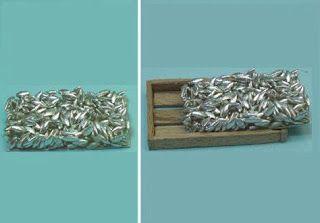 Pescado a base de arroz y plata pintada