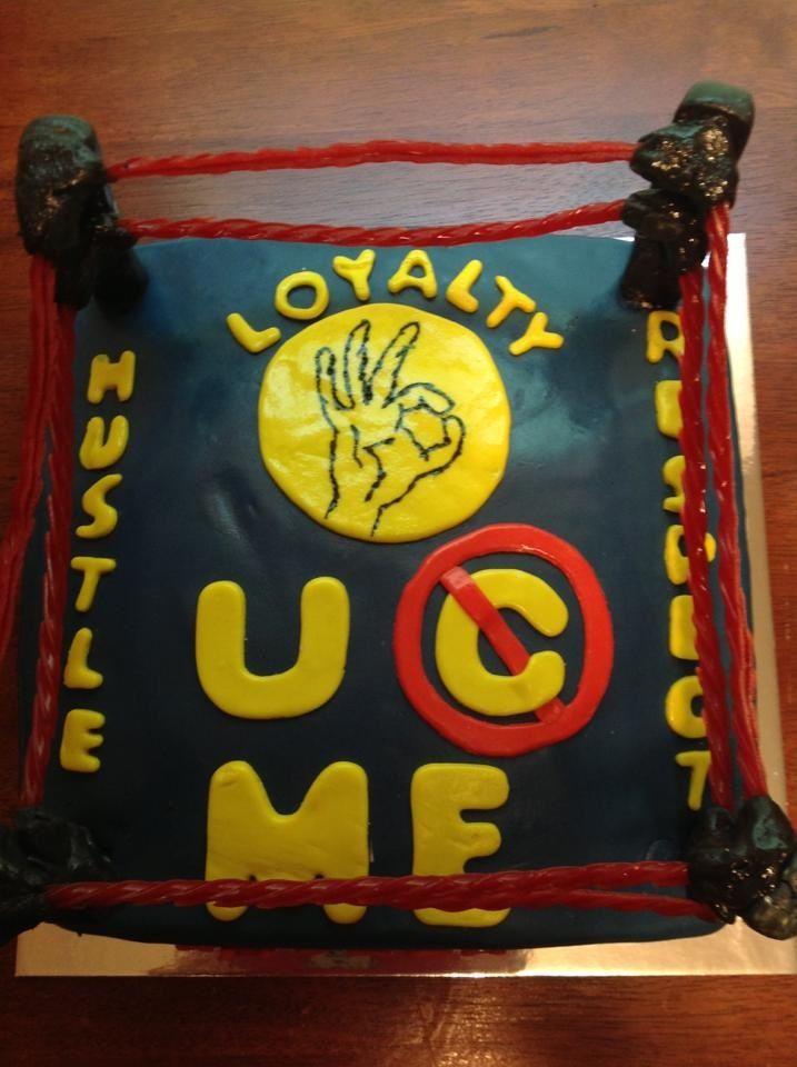 John Cena 10 years strong wrestling ring cake by Jennifer Amburgy