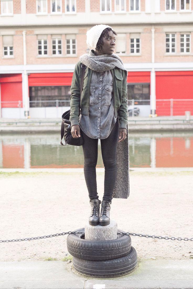 ANTIK-BATIK Bomber, shoes by River Island, Parisian grunge, fashion blogger look