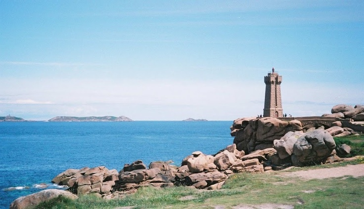 La Phare, Ploumanach, Cote de Granit Rose, Côtes d'Armor, Brittany, used for the Organic Portal Logos