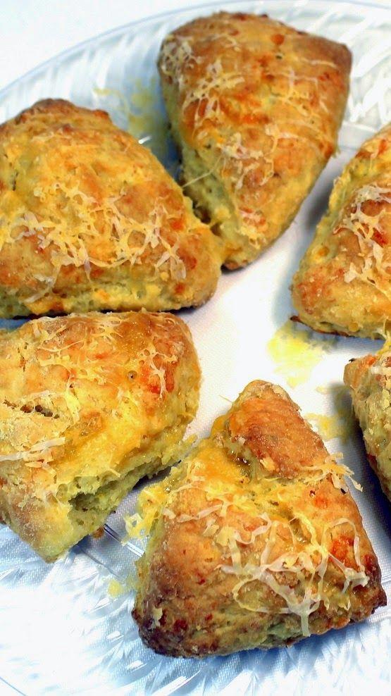Inspired By eRecipeCards: Garlic Cheddar Savory Scones - 52 Breakfast or Church Potluck Recipes