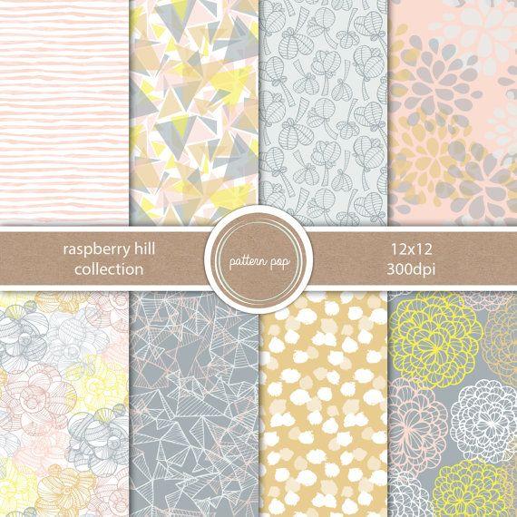 Modern Scrapbook Paper Digital Paper Pack Printable di patternpop