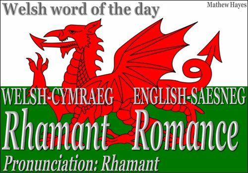 I recently came across a wonderful Cymraeg blog called The Welsh Word of the Day, where you can see different words in Welsh, along with the translation and pronunciation in English. You may even submit a word or words for translation--just words, however, not sentences or quotes, because that would entail a HUGE workload for the site admin, Mathew Hayes. He's providing a great way for anyone with Welsh or Celtic heritage in general to learn a bit of the beautiful Welsh language. It's...