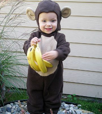Create a fuzzy jumpsuit, hat, and ears out of brown fabric to make this adorable monkey costume.                 Submitted by: macbones1030