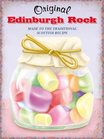 Edinburgh Rock Plaque en métal sur AllPosters.fr