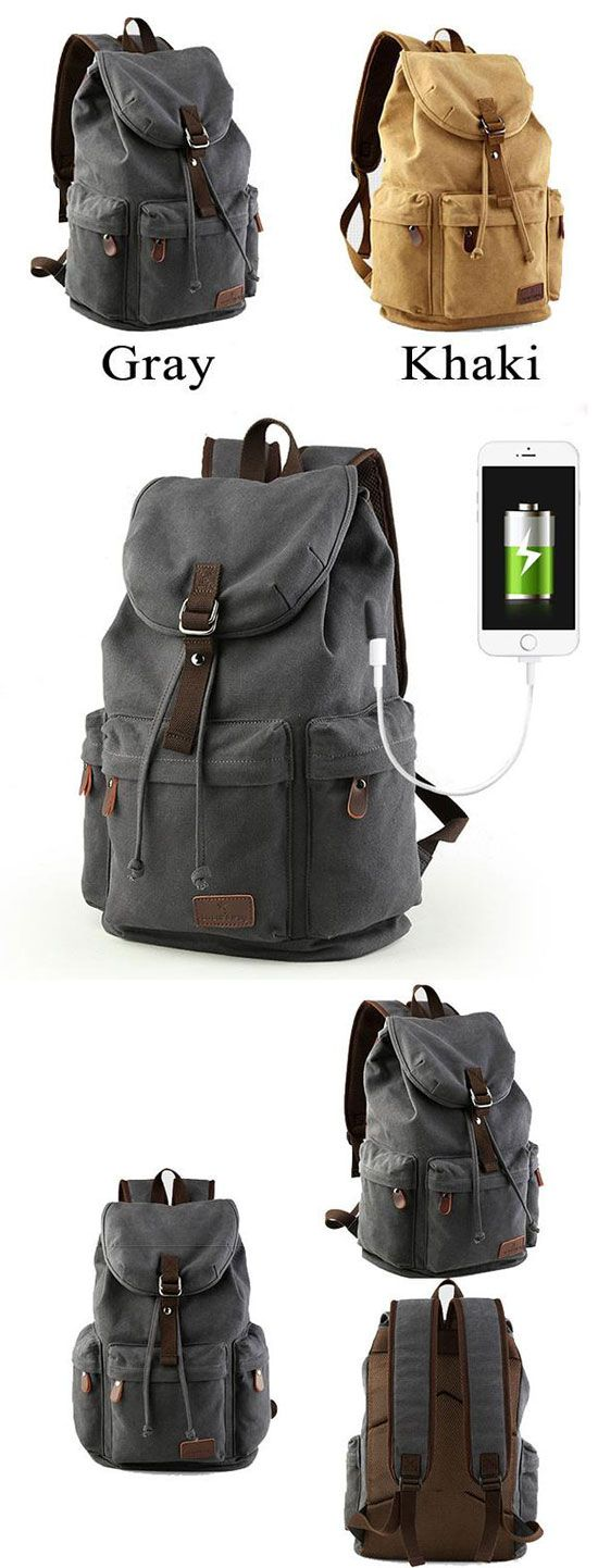 25 best ideas about kipling backpack on pinterest school handbags - Retro Large Capacity Rucksack With Usb Interface Flap Camping Travel Canvas Backpack