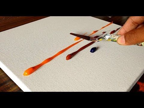 Abstract landscape / Relaxation and satisfaction / Demonstration / Acrylic paints and spatula / Project 365 days / Day No. 0232 – YouTube