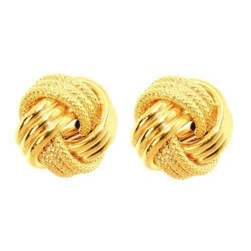 14k 12mm Yellow Gold Large Love Knot Earring - Jewelryweb JewelryWeb. $279.00. Save 36% Off!