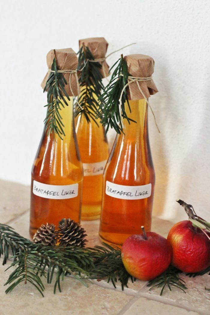 Selbstgemachter Bratapfel Likör zu Weihnachten