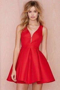 Elegantes vestidos rojos cortos 2