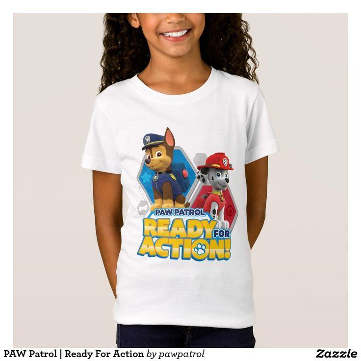 PAW Patrol | Ready For Action. Puppy, dog lover. Producto disponible en tienda Zazzle. Vestuario, moda. Product available in Zazzle store. Fashion wardrobe. Regalos, Gifts. #camiseta #tshirt
