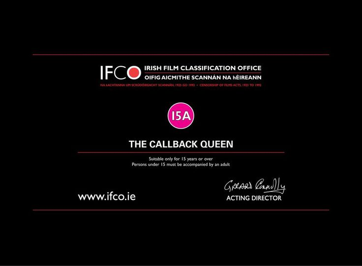 Our IFCO classification came through! 15A for the movie, 12A for the Trailer, watch here: https://youtu.be/P9lsNzJAUXI