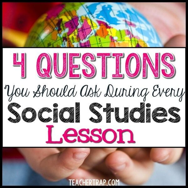 Make your Social Studies lessons more powerful with these 4 questions!  Work them into each lesson to help students make sense of their learning and connect to the content.1. PEOPLE