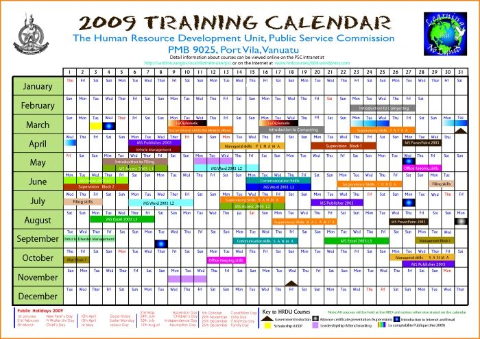 Editable Calendar March 2018 Annual Training Calendar Template Excel Training Template 2019