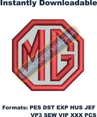 Mg truck Logo Embroidery designs