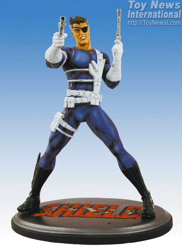 """Marvel Milestones the Amazing Nick Fury Agent of Shield Statue About 13"""" Inches Tall by MARVEL MILESTONES. $200.00"""