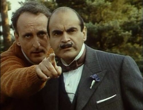 Hastings and Hercule Poirot