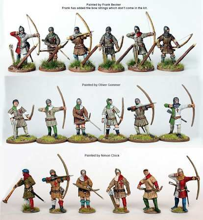 Longbowmen of the Hundred Years War Perry Miniatures 28mm ...
