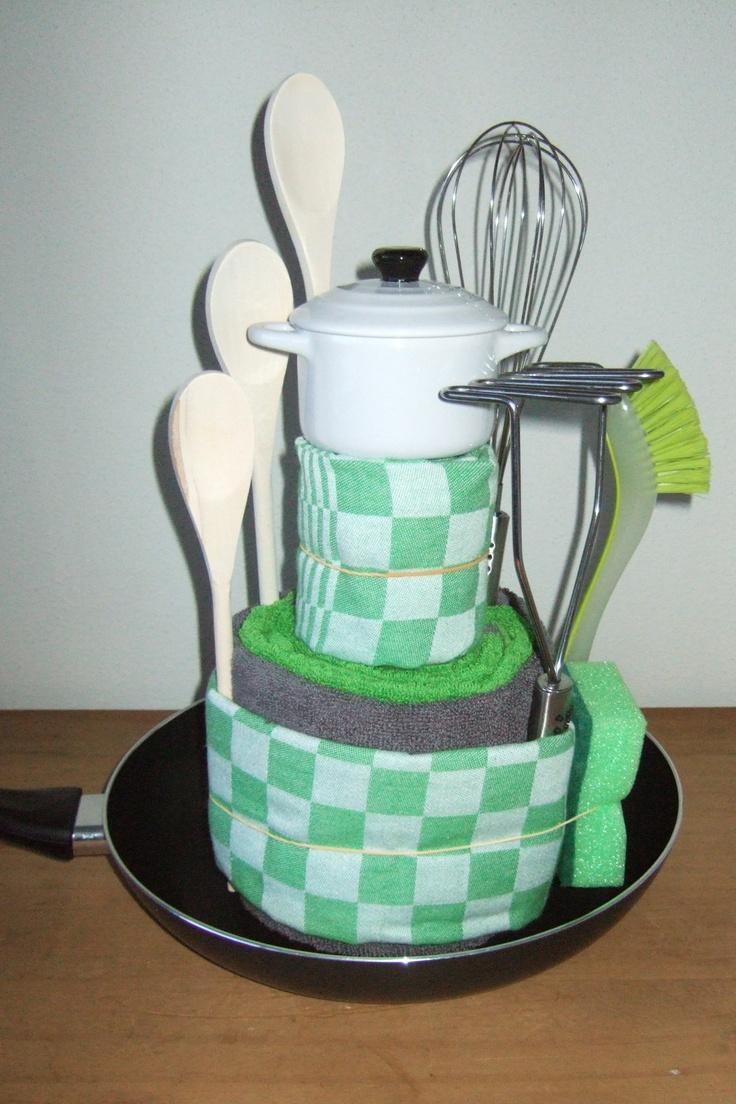 Mijn eigen creatie nav het cadeautje voor de kookgek.... Voor een collega die ging trouwen....