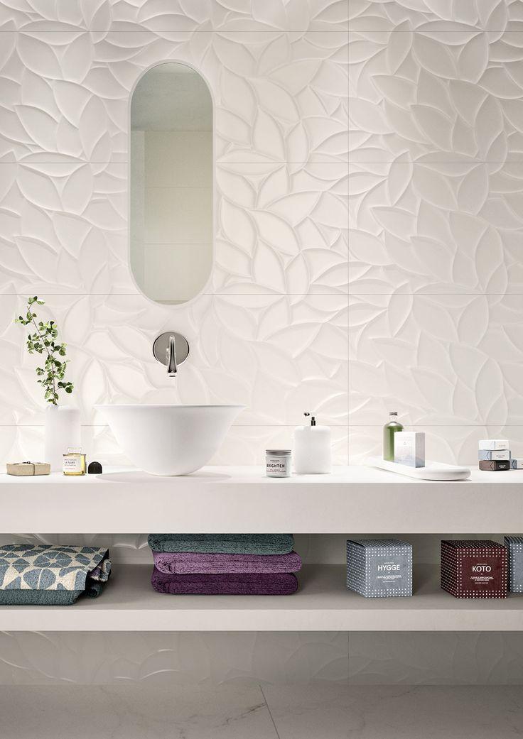 #Marazzi #Essenziale Flora 3D 40x120 cm MMFP | #Gres #tinta unita #40x120 | su #casaebagno.it a 65 Euro/mq | #piastrelle #ceramica #pavimento #rivestimento #bagno #cucina #esterno