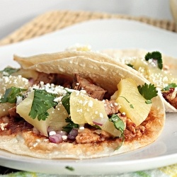and tangy al pastor tacos with a pineapple salsa | Mexican ~ Tacos ...