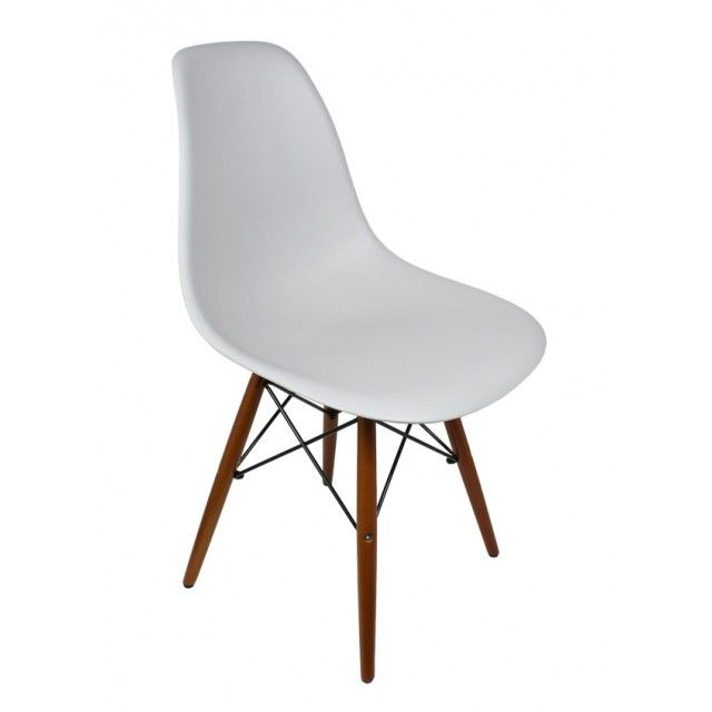 Eames Style Dsw Light Gray Plastic Dining Shell Chair With Dark