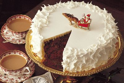 Christmas Cake will be served to guests for tea throughout most of December at Downton Abbey.