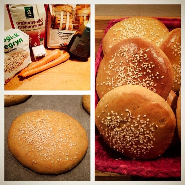 Burgerboller med fuldkorn | Kreamors Køkken