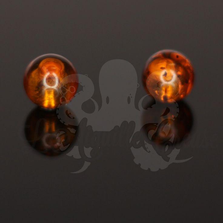 Billes en ambre pour bijou de diamètre 1.6 mm.