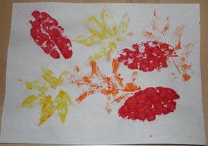 fall leaf print craft