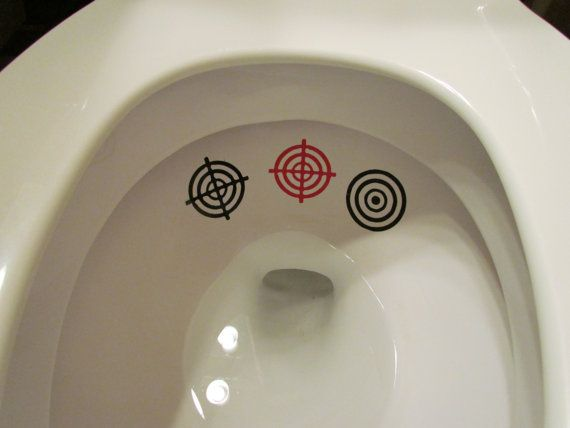 Boy Toilet Targets by LilMrsCrafty on Etsy, $5.50....I'm going to need this with a house full of boys! @Nicole Novembrino Novembrino Novembrino Shreeve