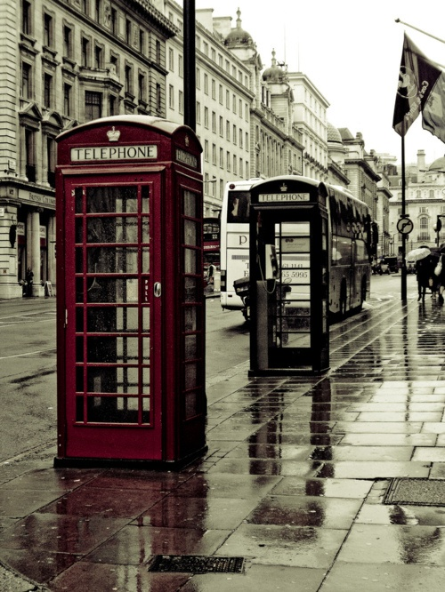 beautiful rainy London