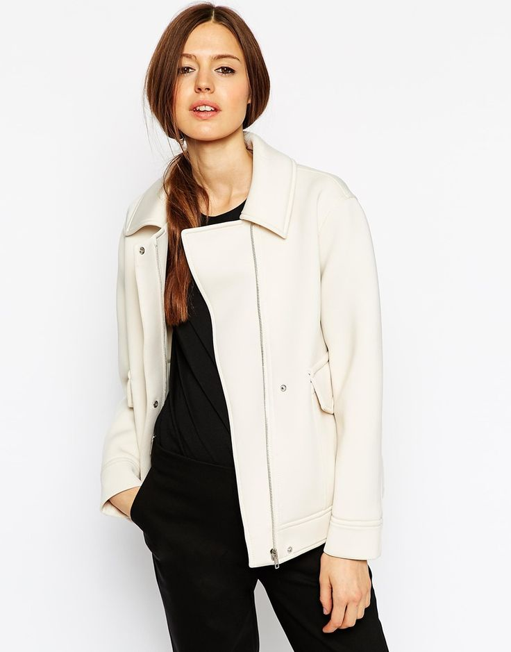 Asos jacket in bonded knit