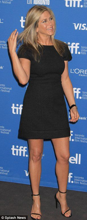 Picture perfect: Jennifer attended the photocall for her latest movie at TIFF on Saturday in her usual LBD