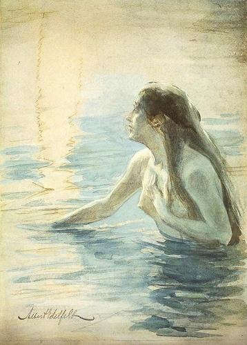 Edelfelt, Albert (1854-1905) - 1890c. In the Water