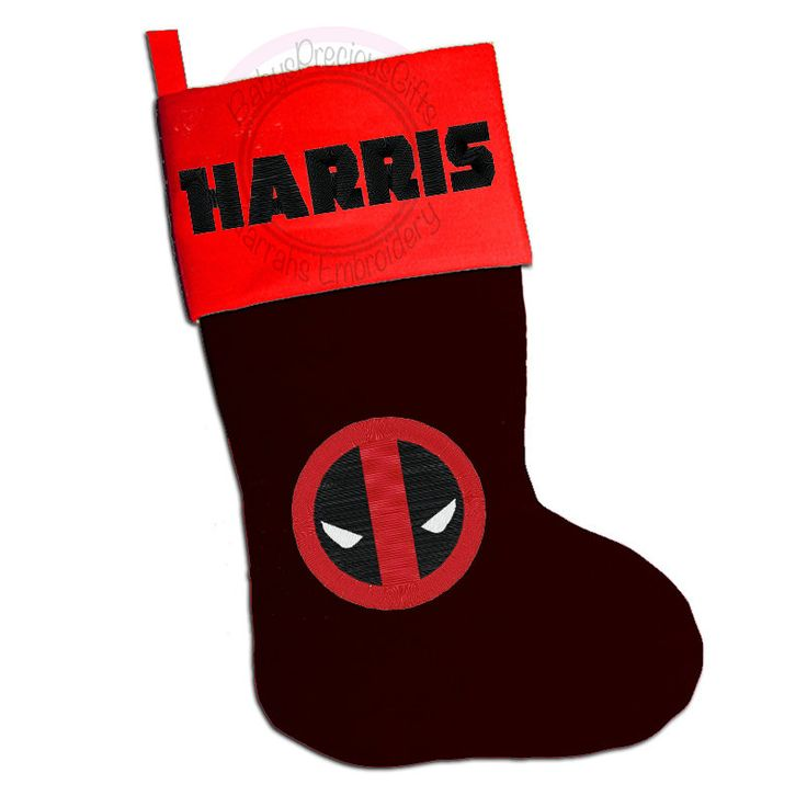 deadpool , Personalised Christmas Stocking, Personalised Stocking, Superhero Character, Marvel, deadpool gift, superhero Gifts - pinned by pin4etsy.com
