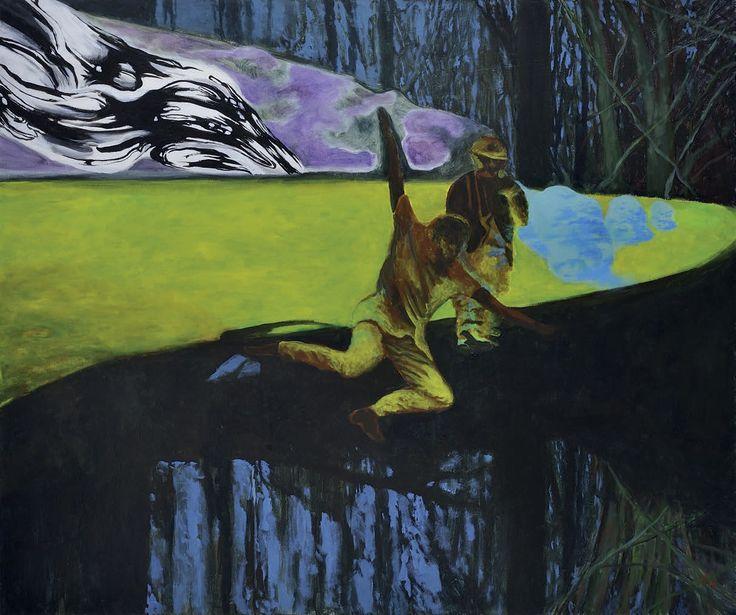 Jiří Hauschka: Stand up Daddy, 2013, acrylic on canvas, 100 x 120 cm