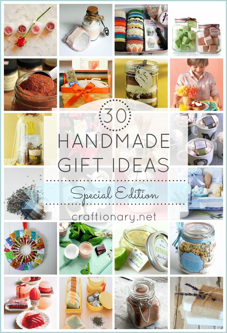 Handmade gift ideas so special your receiver feels pampered..