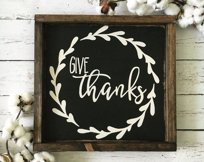 Give Thanks Sign, Fall Sign, Rustic Wood Sign, Thanksgiving Sign, Kitchen Sign, Dining Room Sign, Farmhouse Sign, Fall Decor