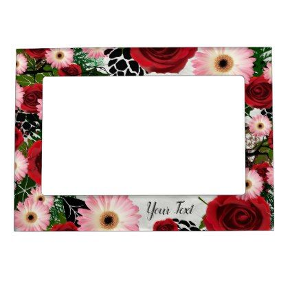 Wreath Wedding Flowers Floral Picture Photo Magnetic Picture Frame - flowers floral flower design unique style