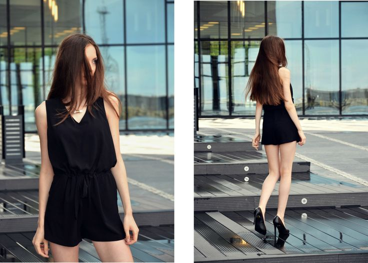 #fashion #legs #heels #szpilki #kombinezon #minimalizm #minimalism #black