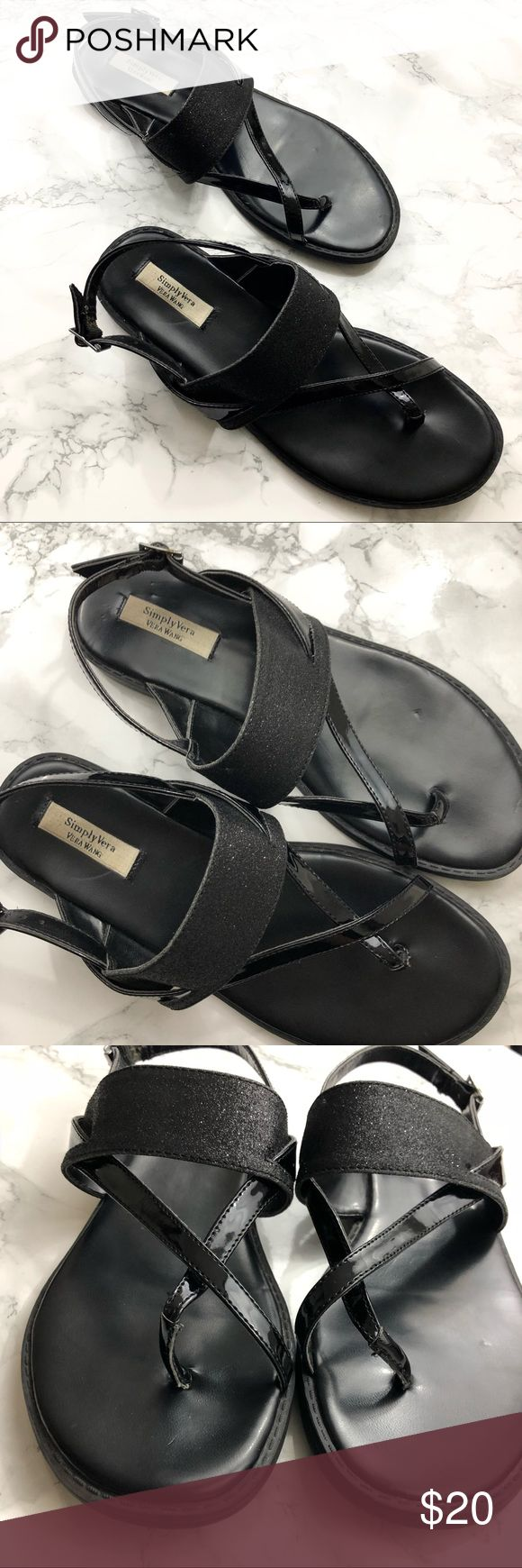 Simply Vera Vera Wang Black Sparkly Sandals Simply Vera Vera Wang Black Sparkly Sandals. Great condition, only worn a few times. Size 7 Medium Simply Vera Vera Wang Shoes Sandals