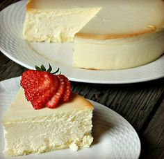New York cheesecake. The recipe given is for the cheesecake at Junior's Restaurant in downtown Brooklyn. But hundreds of bakeries, restaurants, and diners in New York's five boroughs are capable of putting out perfect, absolutely plain, insanely dense New York cheesecake.