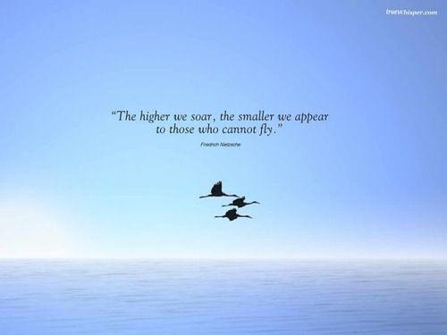 Cuanto más alto volamos, más pequeño que parece que aquellos que no pueden volar. - #FriedrichNietzsche