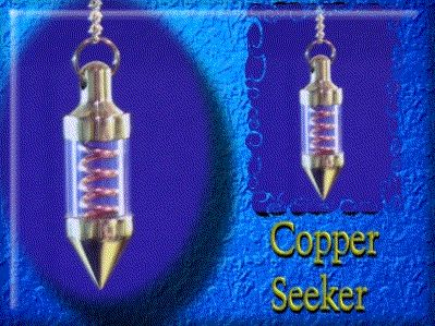 "3.8 cm / 8.0 gm - (1.5"" / 0.28 oz)  US$26.99  The Copper Spiral Seeker pendulum is an excellent dowsing pendulum for a variety of dowsing assignments."