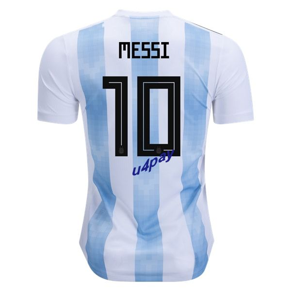 Lionel Messi 10 2018 FIFA World Cup Argentina Home Soccer Jersey