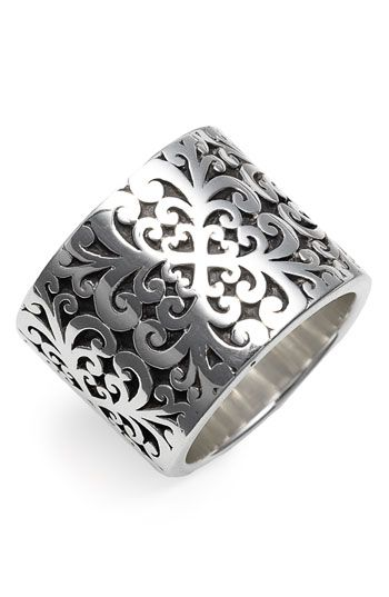 Lois Hill 'Silver Flat Geo' Cigar Ring available at #Nordstrom